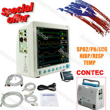 USA CONTEC ICU/CCU vital Signs Patient Monitor 6 Parameters Clinic/Hospital Use