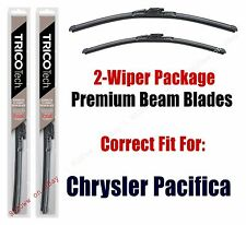 Wipers 2-Pack Premium Beam Wiper Blades fits 2017+ Chrysler Pacifica - 19260/200