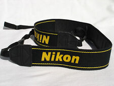 Genuine NIKON CAMERA NECK STRAP  AN-DC1  Black / Yellow  for DSLR / SLR