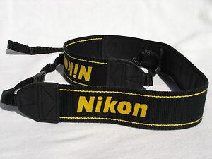 Genuine NIKON CAMERA NECK STRAP  AN-DC1  Black / Yellow  for DSLR / SLR