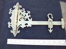 Vintage Solid Brass Bronze Decorative Swing Arm Plant Sign Holder Rack Large