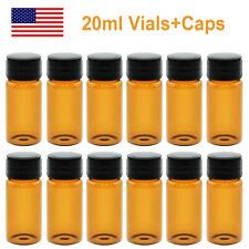 1000pcs Voa 20ml Sample Vialscaps 24 400 Screw Top Amber Glass Bottle Pe Liner