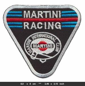 MARTINI RACING Aufnäher Patch Bügelbild Vintage Motorsport Rennsport Team