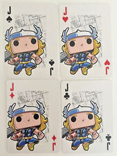 THOR God Of Thunder Set of 4 FUNKO Pop MARVEL Playing Cards ACE,KING,QUEEN,JACK