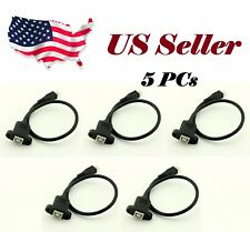 5x USB 2.0 B Female Socket Printer Panel Mount To Micro USB 5 Pin Male Cable 1FT