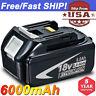 18V 6.0AH For Makita LXT400 BL1850 BL1830 BL1860 BL1840 Lithium Cordless Battery