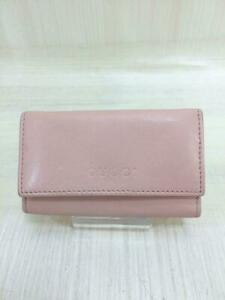Gucci  Leather Pnk 260989-4276 Leather Pink Fashion Key case 888 From Japan