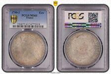 O1522 RARE Ecu Louis XVI 1790 I Limoges Argent Silver SPL PCGS MS61