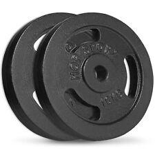 20 kg Hantelscheiben 2x10 kg 30/31mm Gripper Guss Gewichte Hanteln Set