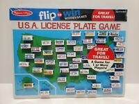 U5 Melissa & Doug USA License Plate Flip to Win Game