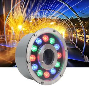 RGB LED Swimming Fountain Pool Light Stainless Steel IP68 Underwater 24V Lamp