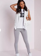 a85504d61d2710 MISSGUIDED basic jersey leggings grey SIZE 10 US