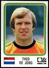 Países Bajos Theo de Jong historia Panini Etiqueta Engomada de la Copa Mundial de #87 (C350)