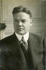 """Président Herbert HOOVER 1930"" Photo originale Henri MANUEL"