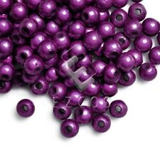 120pcs Round Illusion Miracle Beads Acrylic Crafts Spacer Beads 4mm Dark Purple