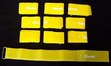 10 x Kabelklettband 50cm x 50mm in gelb Klett-Kabelbinder mit Öse
