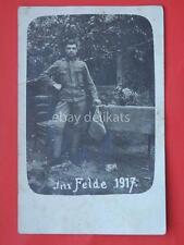 Austria Trieste militare IM FELDE vecchia foto old photo