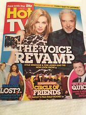 UK Hot TV Magazine Kylie Minogue Tom Jones THE VOICE Promo Cover Clippings