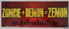 SDCC Comic Con 2013 EXCLUSIVE Dead Before Dawn 3D Movie promo Bumper Sticker