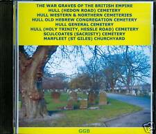 WAR GRAVES OF VARIOUS HULL CEMETERIES CD ROM
