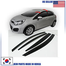 NEW SMOKED DOOR VISOR WINDOW SUN VENT DEFLECTOR KIA RIO HATCHBACK 2012-2017