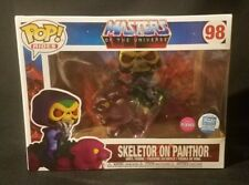 NEW Funko POP Rides MOTU Skeletor on Panthor FLOCKED #98 Limited EXCLUSIVE Retro