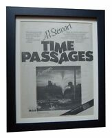 AL STEWART+Time Passages+POSTER AD+RARE+ORIGINAL 1978+FRAMED+EXPRESS GLOBAL SHIP