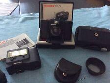 Minox 35 EL Kompaktkamera Kleinbildkamera original Etui Blitzgerät Sonnenblende