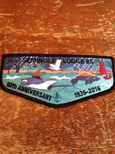 Seminole Lodge #85 80th Anniversary Black Border Ray Manatee Oa 13-70