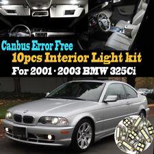 10Pc 01-03 BMW 325Ci Canbus Error Free Super White Car Interior LED Light Kit