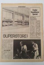 ERIC CLAPTON RORY GALLAGHER J GARCIA - FENDER GUITARS Newspaper supplement 1973