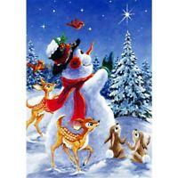 Full Drill Diamond Painting DIY 5D Christmas Gift Snowman Fawn Bunny Kits Decor
