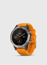 Garmin Fenix 5 Plus Sapphire Titanium Arancia Orologio GPS HRM Cardio mappe