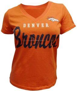 G-III Sports Denver Broncos Women's Orange Gameday V-Neck T-Shirt