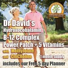 Dr. Davids Vitamin B-12 Complex Power Patch  HYDROXY w/ Methylfolate * Multi-Buy