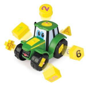 T46654 - Tracteur jouet Johny Tractor JOHN DEERE le tracteur formes et chiffres