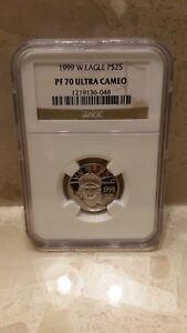 1999-W NGC PF70 1/4 oz Proof Platinum Eagle $25