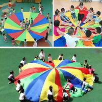 Kid Play Parachute Outdoor Jump-sack Rainbow Umbrella Sport  Game 2-5m_ex