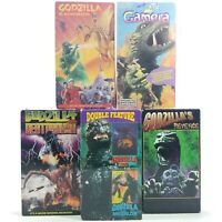 Lot of (6) Vtg Godzilla Gamera VHS Tapes Megalon Destoroyah Monster Zero Kaiju