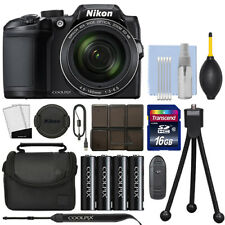 Nikon Coolpix B500 16MP Digital Camera 40x Optical Zoom Black Full-HD + 16GB Kit