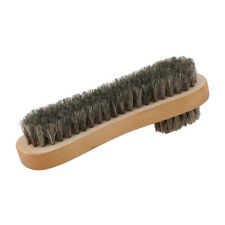 Wooden Handle Horsehair Shoe Brush Polish Natural Leather Real Horse Hair Soft