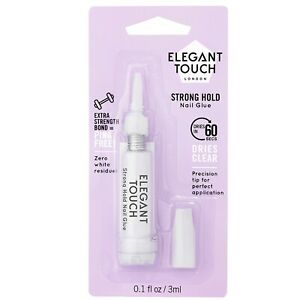 Elegant Touch Extra Strong Hold Nail Glue 3ml - False Nail Tips & Extensions