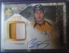 2013-14 SP Authentic AUTO PATCH Rookie *FILIP FORSBERG* RC! /100 2014 Upper Deck