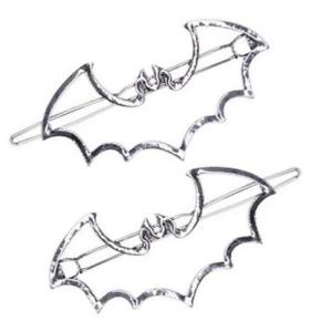 Bat Hair Pin Clip Large Barrette Vampire Dracula Gothic Goth Horror Punk Gift