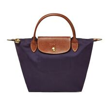 NWT LONGCHAMP Le Pliage Type S Small Handheld Tote Bilberry Purple France Made