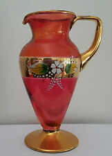 Venetian Cranberry Glass Jug