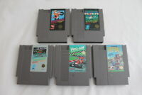 Lot 5 Nintendo Entertainment System NES Video Games Excitebike ProAm Rad Racer