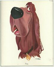 Vintage 1950's-70's LADY And The TRAMP Wall Hanging/PRINT ~ TRUSTY ~ Walt Disney