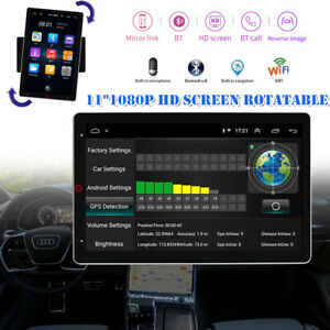 "11"" Android Navigation Car Rotatable MP5 Player Wifi BT GPS Navigation 4K Video"