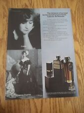 1973 VINTAGE AD FOR CALECHE PERFUME BY HERMES PARIS COLETTE AND EMPRESS EUGENIE